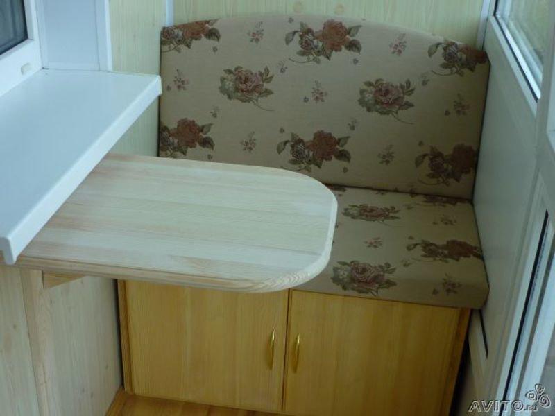 Купить настенный, откидной столик на балкон встроенный стол .
