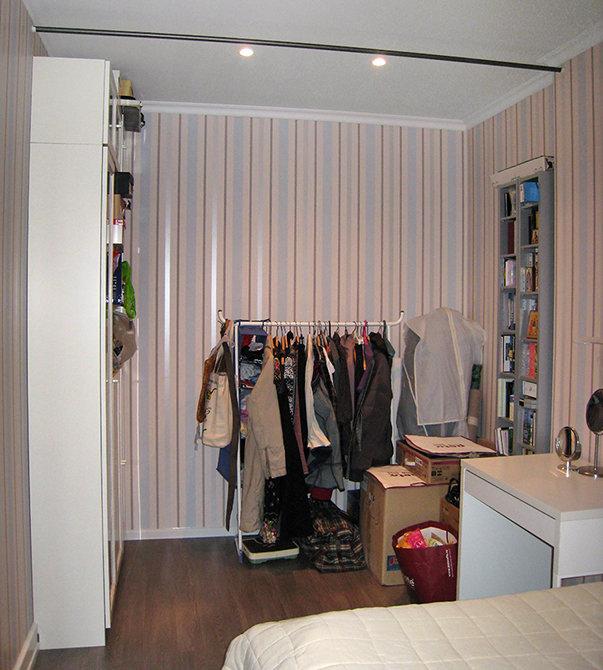 Штанга и шторка в гардеробную.