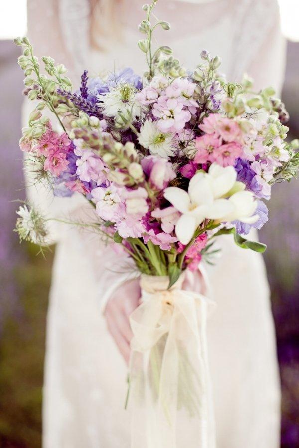 Букет в стиле прованс, невесты дублер атласных