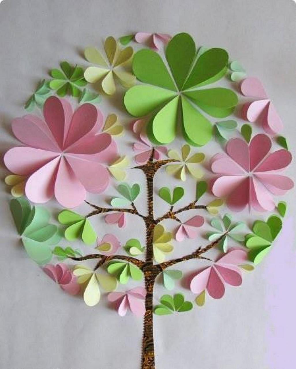 Как дерево из бумаги своими руками