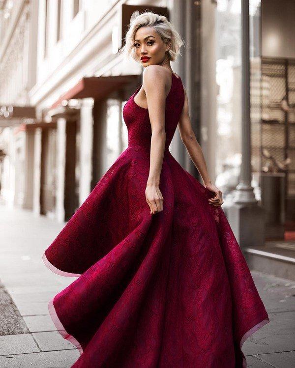 Вечерние красные платья 2017-2018 года  фото платья красного цвета ... 80d8fae1fe619