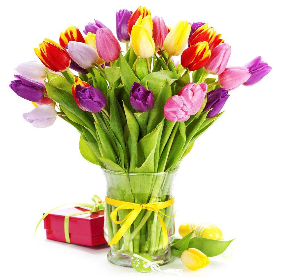 Пожелания, поздравления с тюльпанами