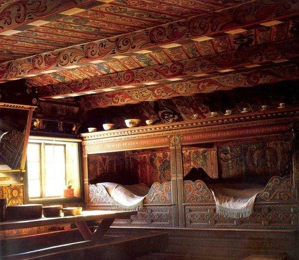 Необычный потолок. Скандинавский интерьер 18-19 в