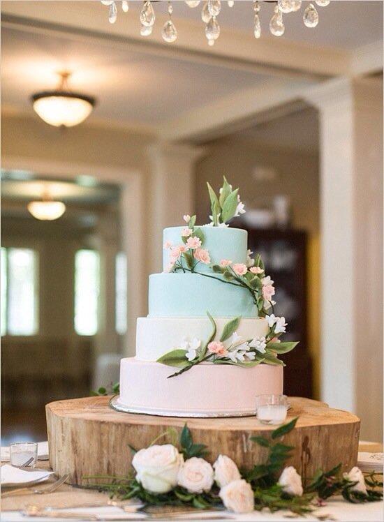 Стильные торты свадебные
