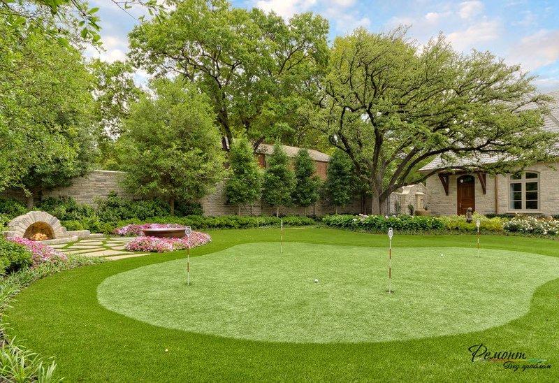 Лучшие идеи по оформлению газона в ландшафтном дизайне двора. Что выбрать: газон или естественное разнотравье? Какие бывают виды газонов. Красивый дизайн газона.
