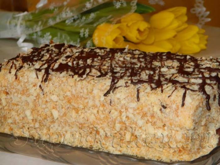 наполеон торт рецепт с фото с вареной сгущенкой