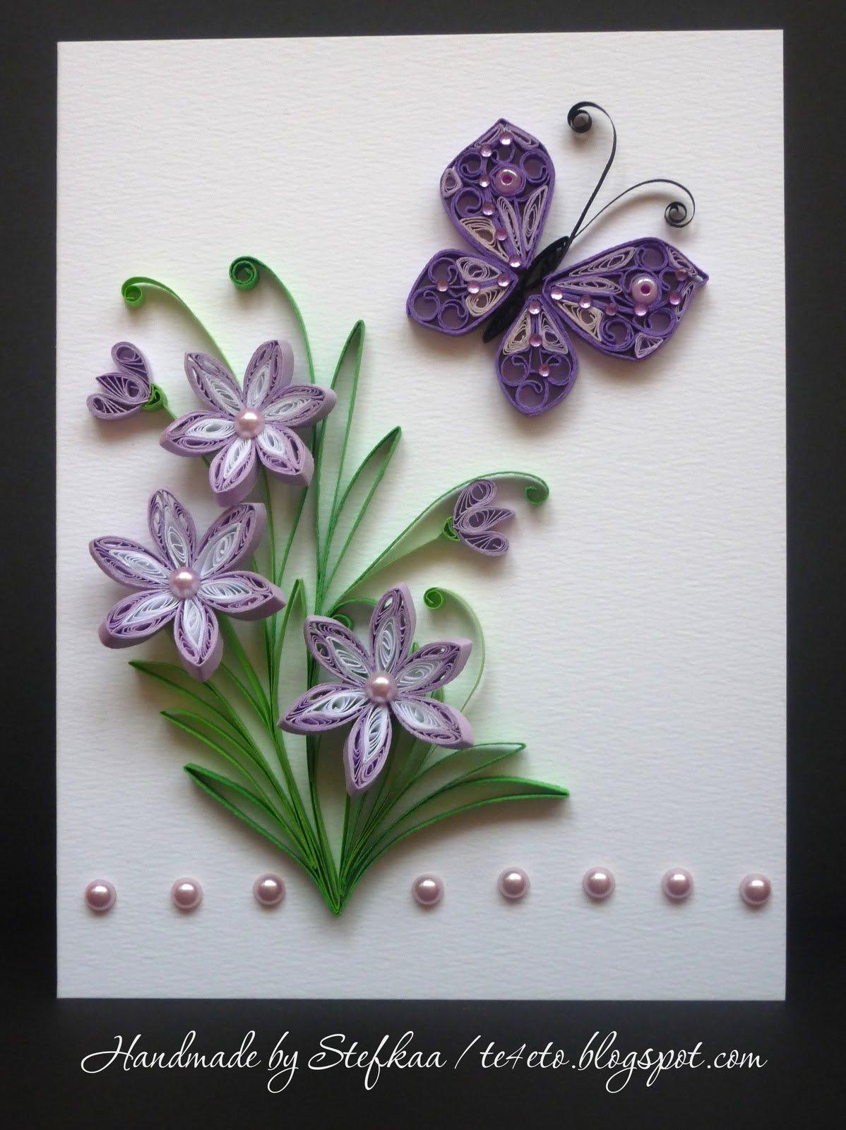 Цветы в технике квиллинг для открытки, белые картинки