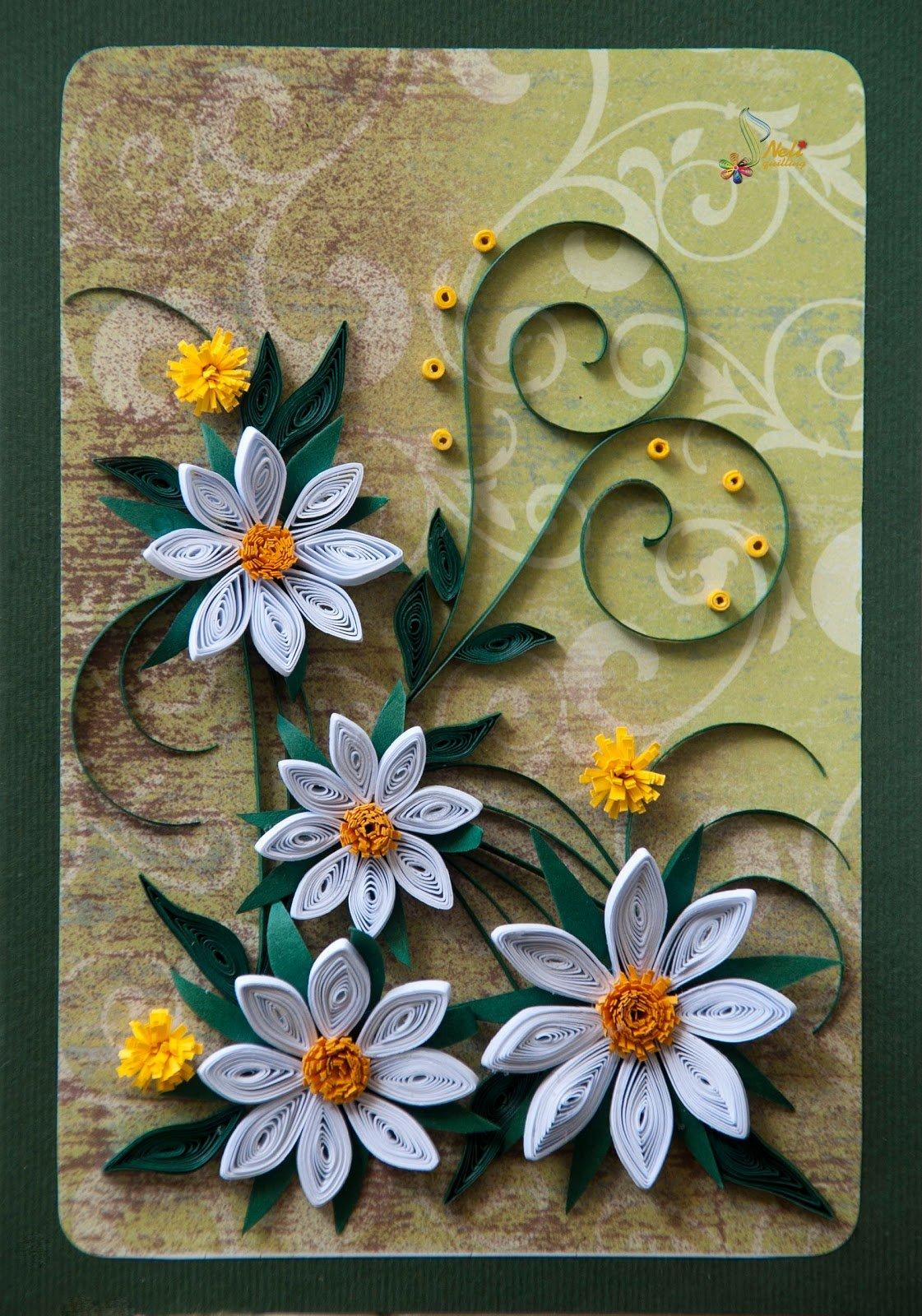 Мультяшек, открытки из скрученных бумаг