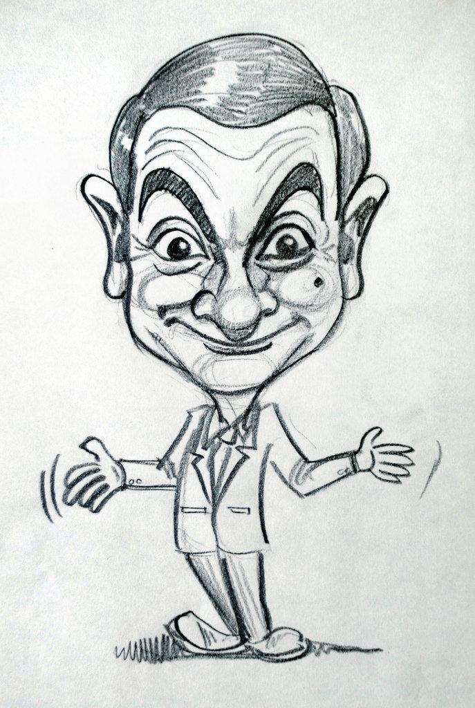 Смешной рисунок лица карандашом