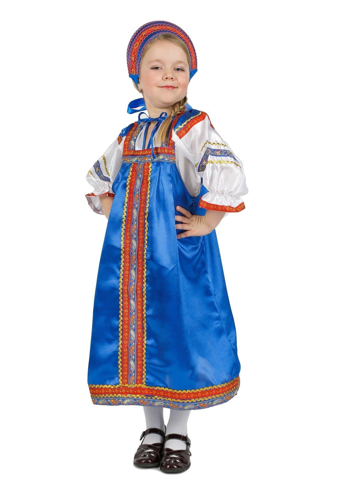 Картинка девочка в русском сарафане для детей