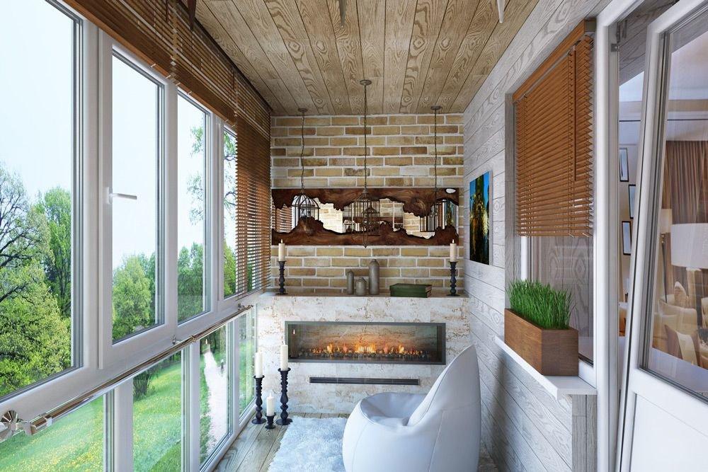 """Балкон в квартире с камином."""" - карточка пользователя l.galu."""