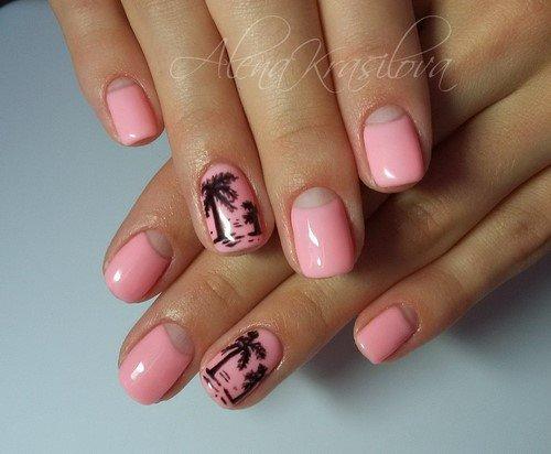 Светлые Короткие Ногти Дизайн Фото