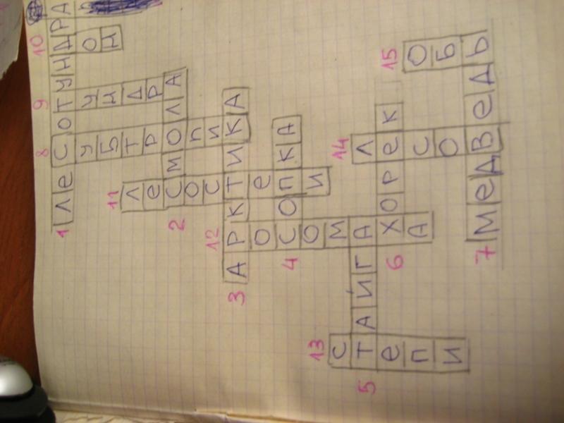 Как составить кроссворд для 8 класса по географии