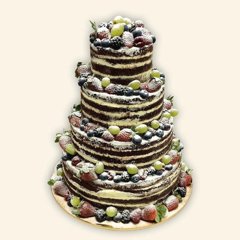 Заказать свадебный торт без мастики в москве