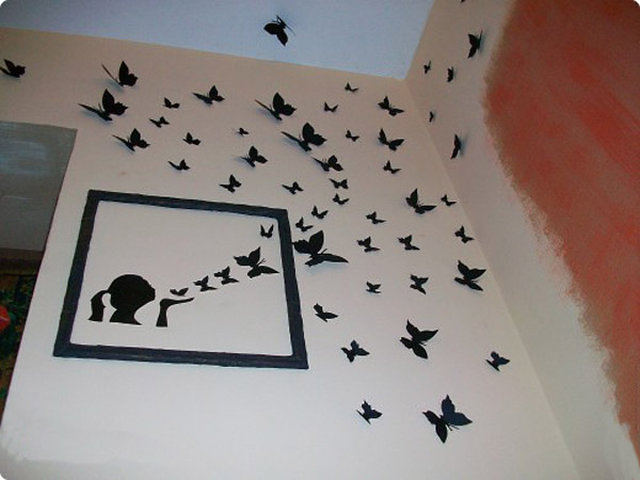 Бабочки оригами из бумаги на стену своими руками