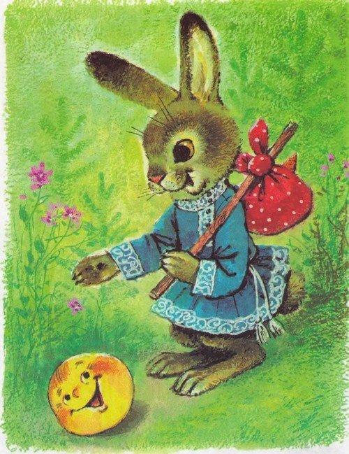 Детская картинка зайца из сказки