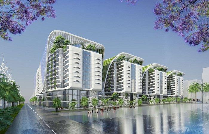 Футуристический комплекс: тотальная оптимизация жилого пространства Футуристический дизайн жилого комплекса в Каире.