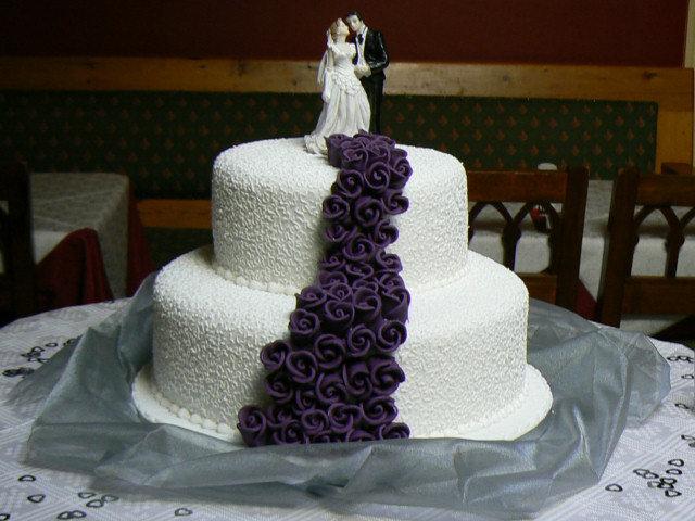 Свадебные торты двухъярусный фото