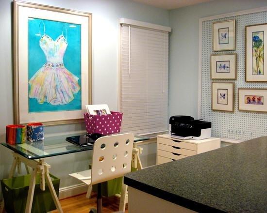 Из таких элементов состоит современный интерьер домашнего кабинета.