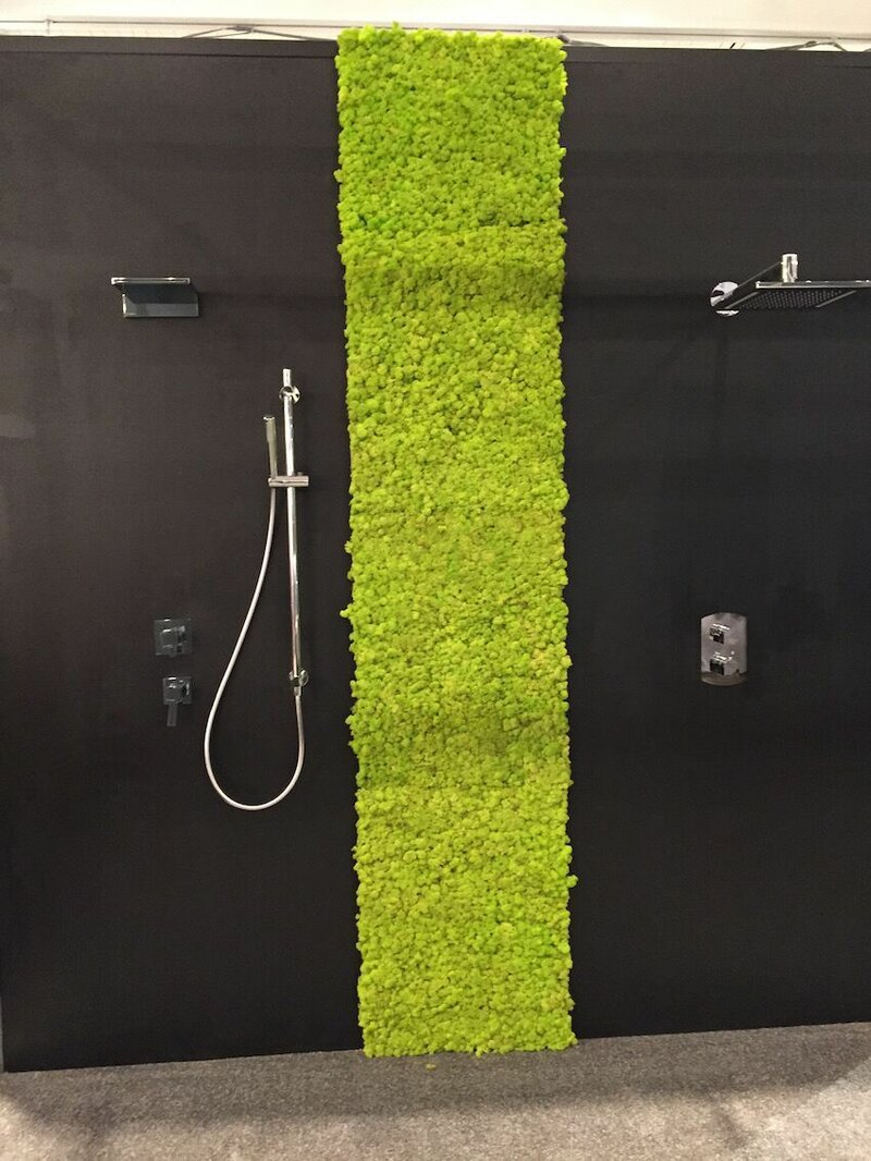 Bathroom with touch of green - grass