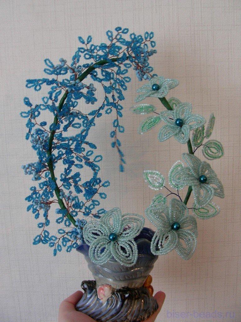 дкревья и цветы бисер