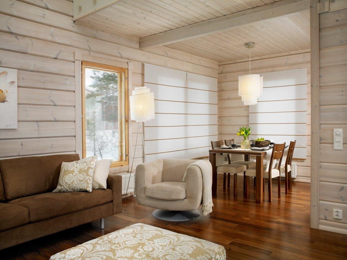 обшивка вагонкой внутри деревянного дома фото
