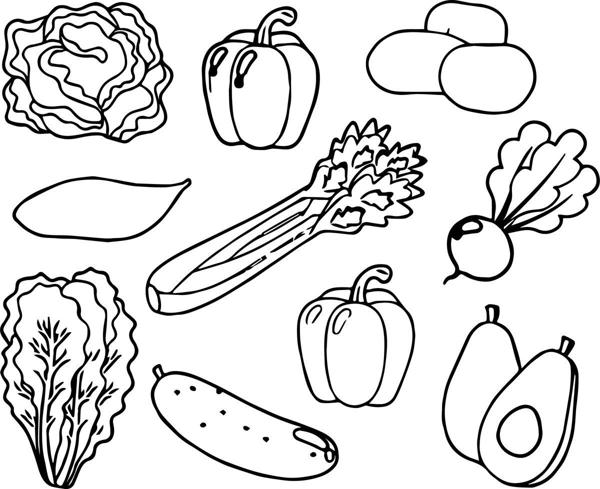 Картинки для детей 2-3 лет овощи