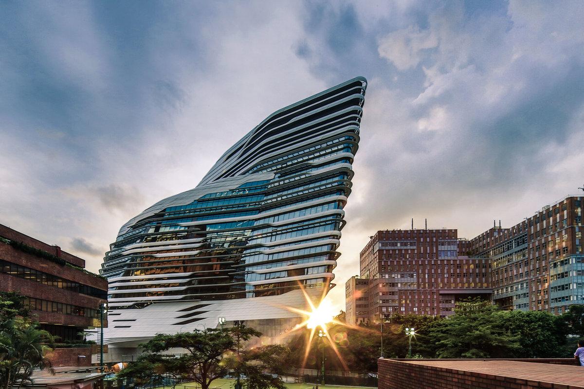 Image result for zaha hadid innovation tower at hong kong polytechnic university
