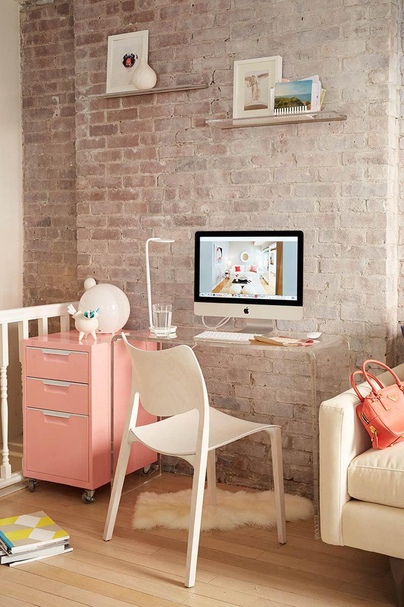 Домашний кабинет в современном скандинавском стиле