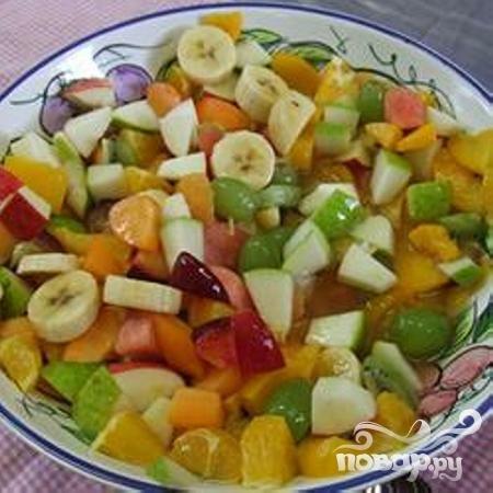 Фруктовый салат по домашнему фото
