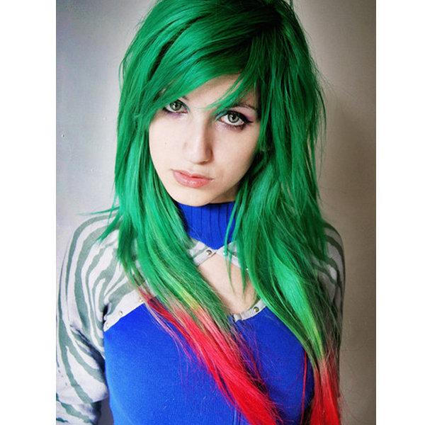 Зелёный цвет волос