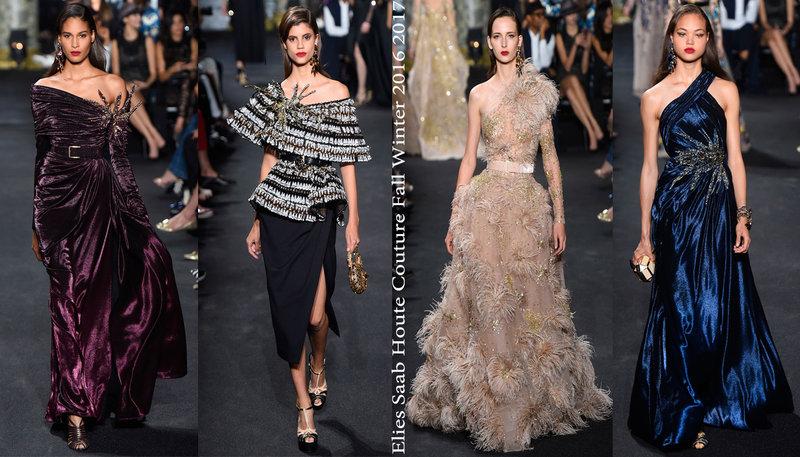 Коллекция Elie Saab Houte Couture Fall Winter 2016 2017. Вечерние платья в оттенках рассветного и сумеречного неба!   Новости