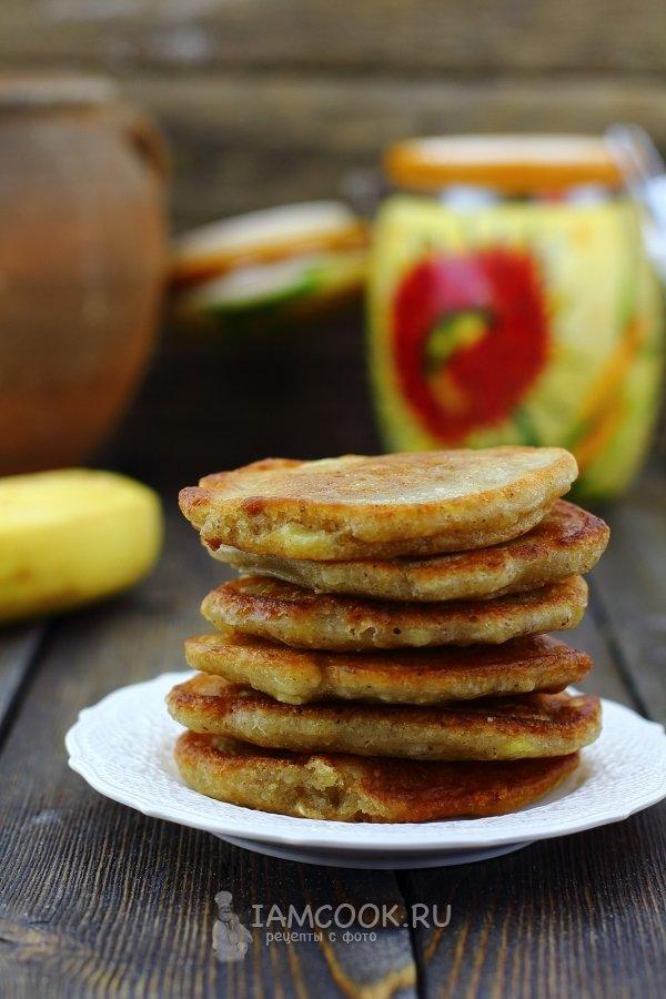 Постные банановые оладьи рецепт с фото