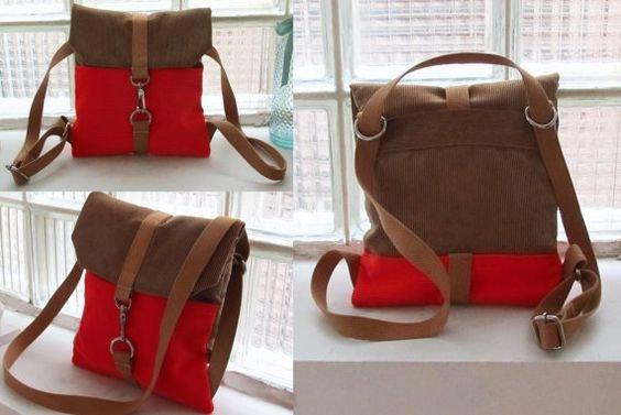 Выкройка рюкзака-сумки женские сумки-рюкзаки из текстиля