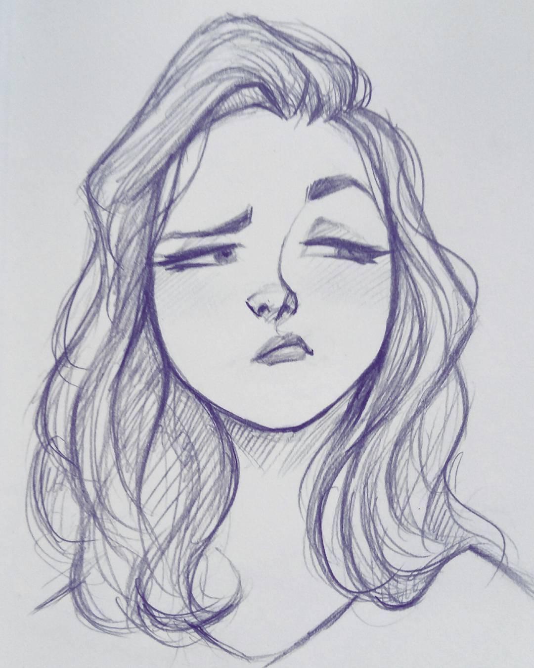 Простые картинки девушки для срисовки