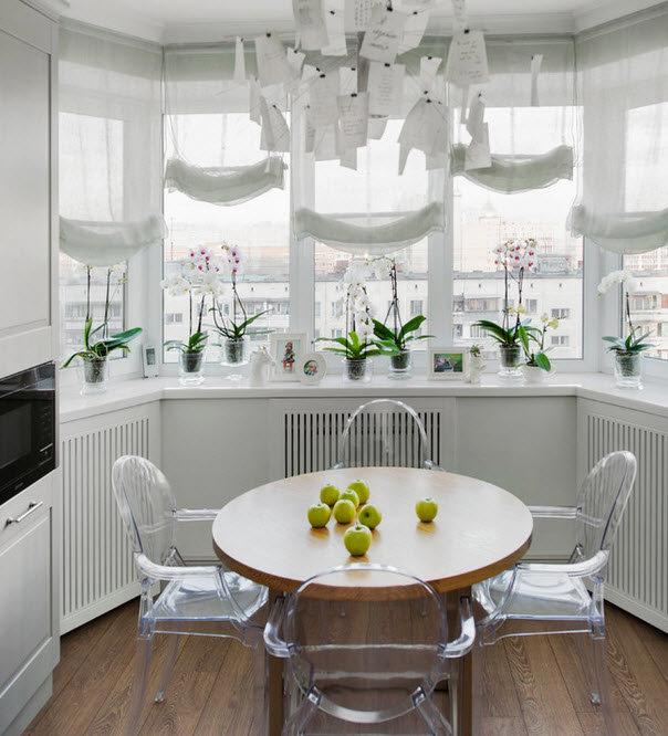 Большие окна на кухне -  отличный способ добавить элегантность в ваше пространство