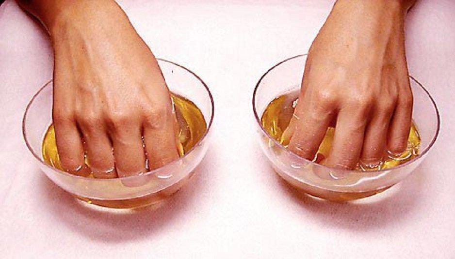 Солевые ванночки от грибка ногтей на руках