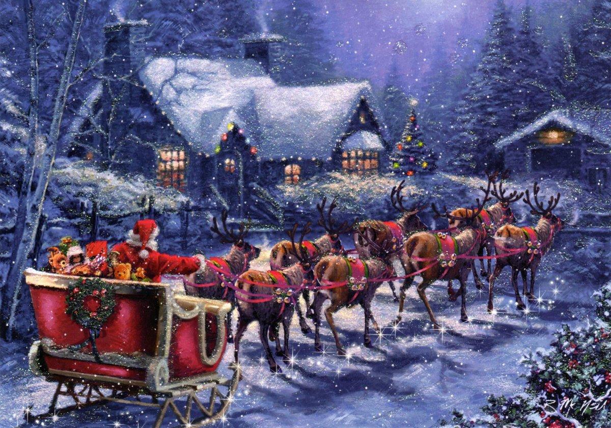 открытки американского рождества вот неоклассике