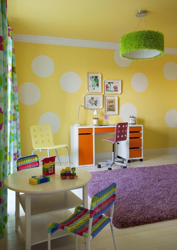 стена в разноцветный горошек выбрать стиральную машину