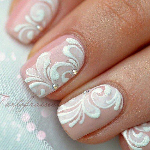 Свадебные дизайны ногтей