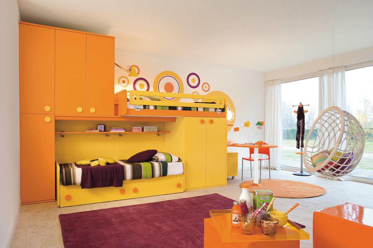 صور غرف نوم اطفال سرير بدورين 2020