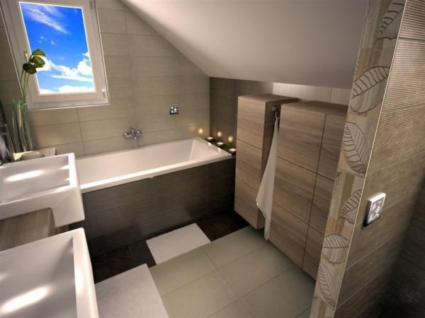 ванная комната мансарда дизайн