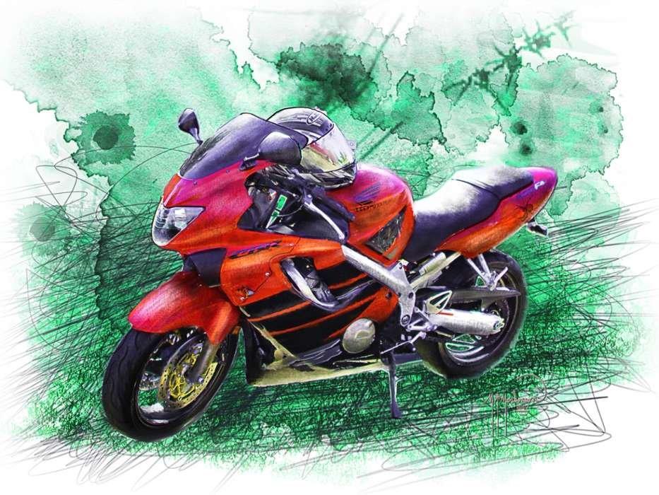 красный мотоцикл картинки рисунки закрытии кожного