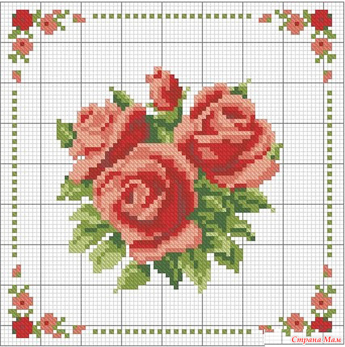 Схемы крестом розы фото