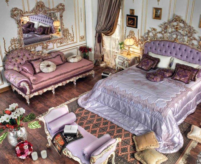 Фиолетовая спальная мебель - барокко - Gold от Asnaghi In...