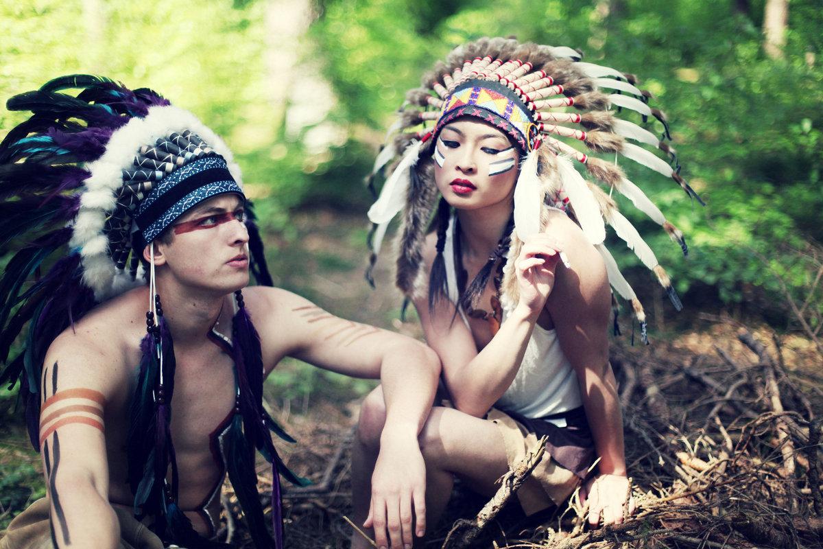 в боевой раскраске фото индейцы