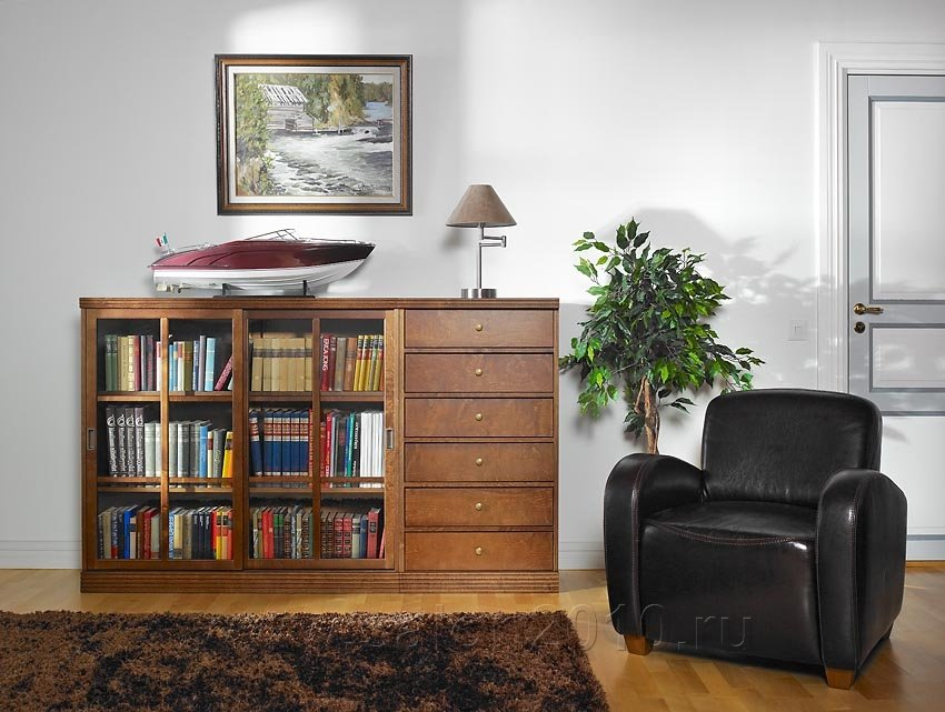 Изящное и функциональное решение хранения книг в небольших п.