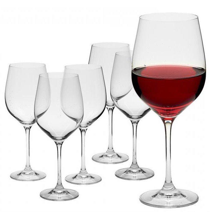 Бокалы под красное вино