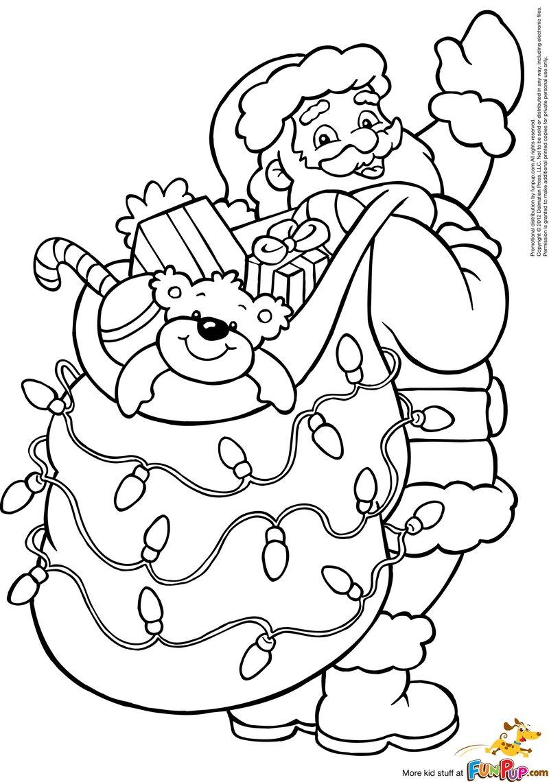 Dibujos para colorear de Papa Noel, Santa Claus, Viejito Pascuero ...