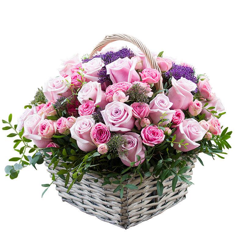 Открытки, открытки с корзинками роз